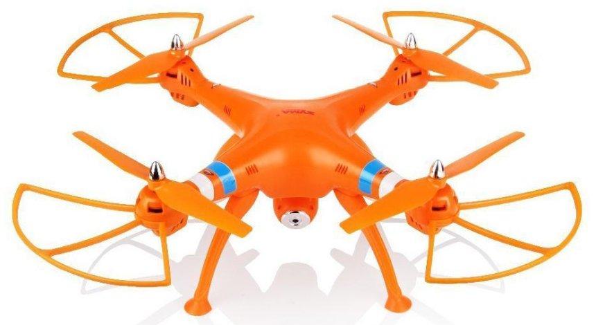 Quadricottero SYMA X8C Venture con videocamera HD, versione arancione