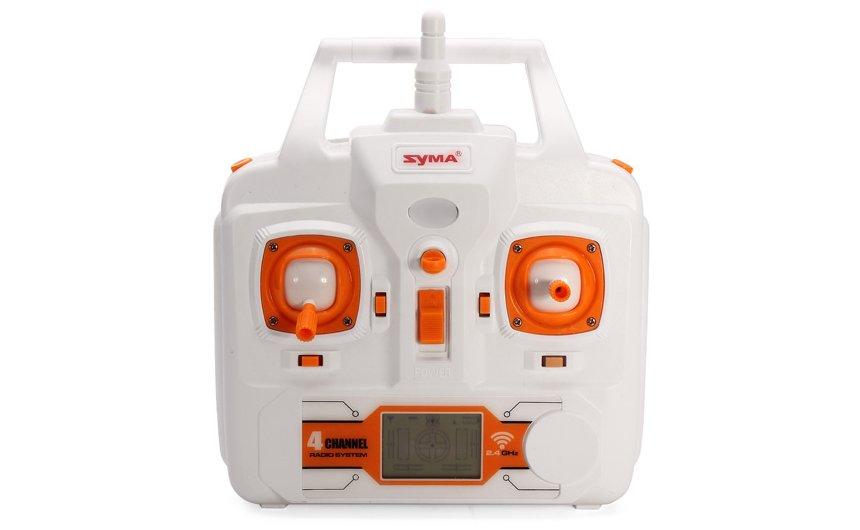 Il radiocomando a 4 canali, con portante di 2.4GHz e display LCD del drone SYMA X8C Venture