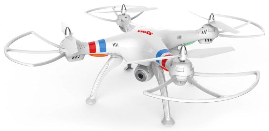 Quadricottero SYMA X8W FPV con videocamera Wi-Fi, versione bianca