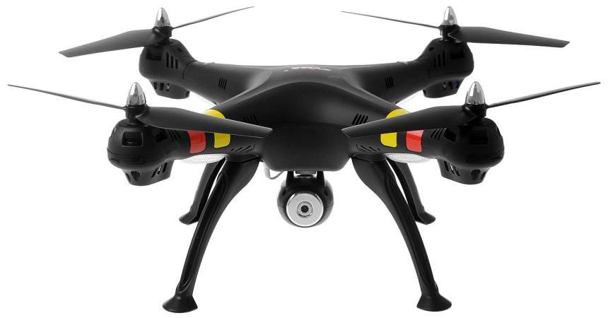 Quadricottero SYMA X8W FPV con videocamera Wi-Fi, versione nera