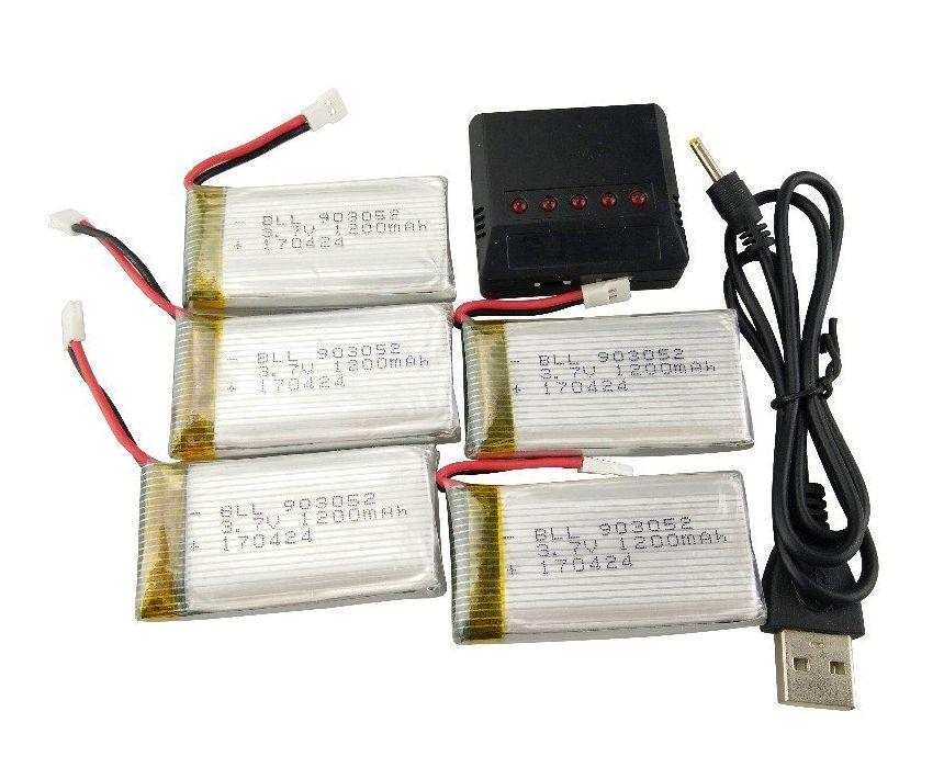 Le migliori batterie e caricabatterie di ricambio per droni e quadricotteri DJI, Hubsan e Syma, a prezzi molto convenienti