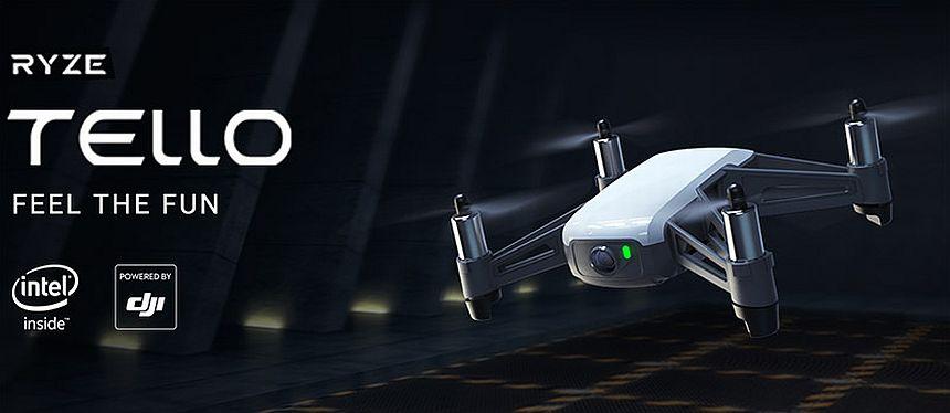 COMPRA MINI DRONE DJI RYZE TELLO. Compatibile con Lenti VR e Controller, Trasmissione in HD fino a 720p e 100m Distanza di Volo. Negozio online dei migliori droni economici e quadricotteri professionali, bambini e principianti. Offerte e sconti del 30%, 50%, 70%. Approfittane subito!