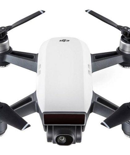 Drone DJI SPARK Alpine White con Gesture Mode e videocamera da 12MP con modalità selfie, versione bianca