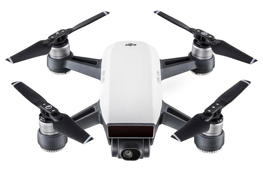 Quadricottero DJI SPARK versione bianca, eccellente drone semi-professionale con videocamera Full HD da 12MP