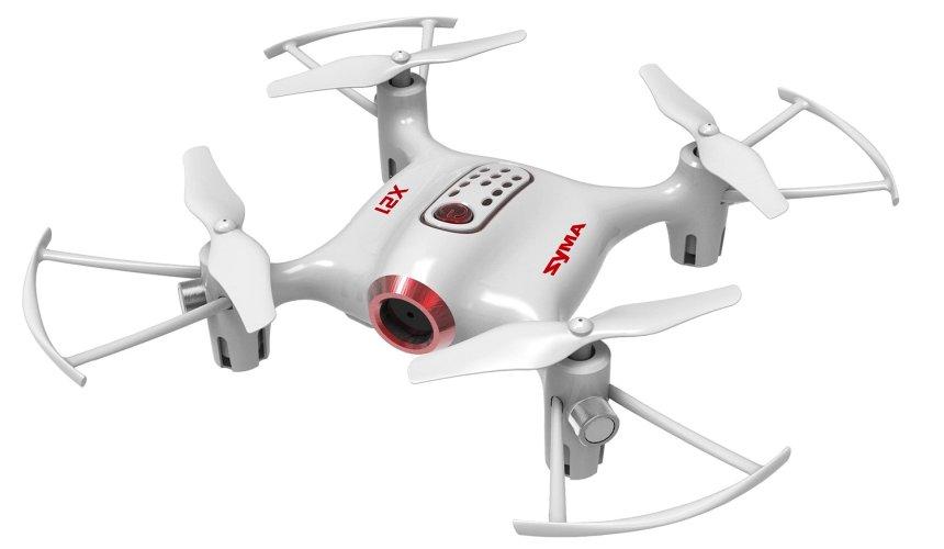 Mini Drone SYMA X21 con modalità senza testa (Headless), versione bianca