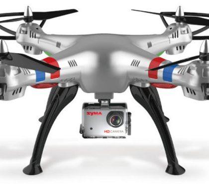 Drone SYMA X8G argento con videocamera HD 5MP e modalità Headless