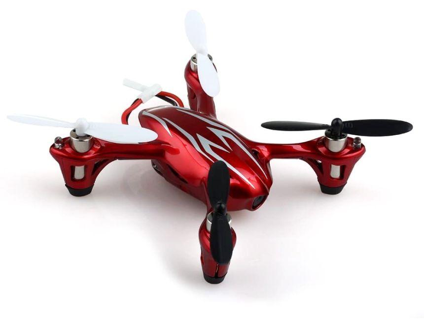 Quadricottero Hubsan X4 H107C Rosso/Bianco, con videocamera 720p HD