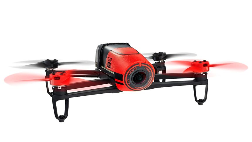 Quadricottero Parrot Bebop FPV con videocamera Full HD e SkyController, versione rossa