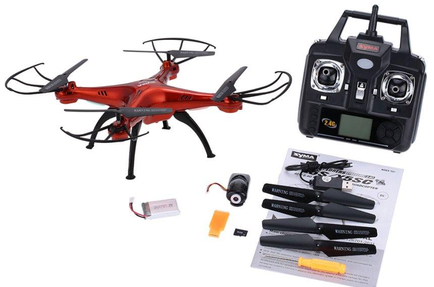 Il drone SYMA X5SC vi arriverà a casa completamente accessoriato e subito pronto per volare