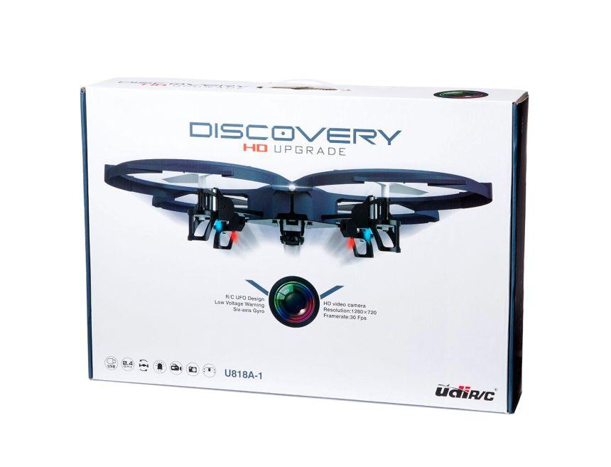 La confezione del drone UDI RC U818A-1 Discovery, così come vi arriverà a casa