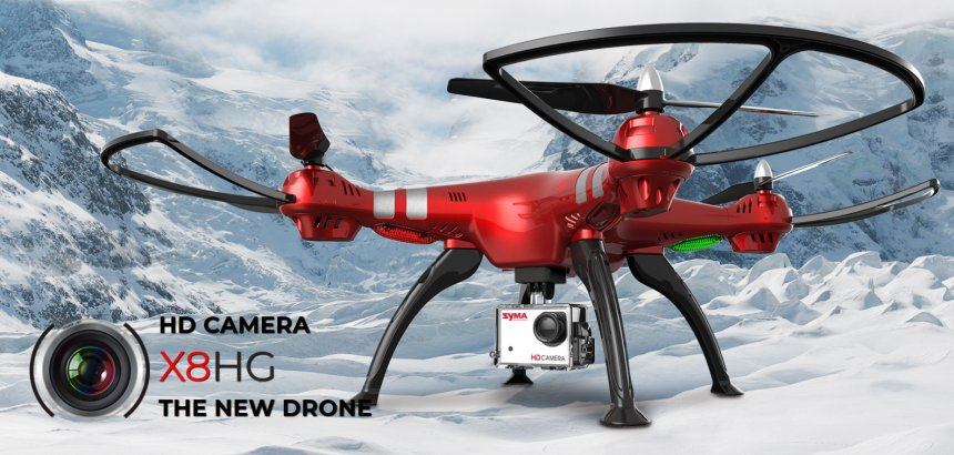 Quadricottero SYMA X8HG con videocamera HD 8MP e modalità Headless