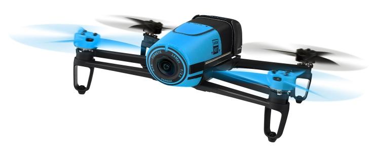 Quadricottero Parrot Bebop FPV con videocamera Full HD e SkyController, versione blu