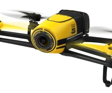 Quadricottero Parrot Bebop FPV con videocamera Full HD e SkyController, versione gialla