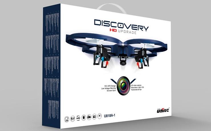 """L'elegante confezione dell'U818A-1 Discovery (notare la dicitura """"HD UPGRADE"""")"""