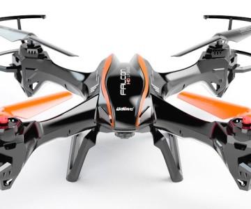 Quadricottero UDI RC U842 Falcon con videocamera 720p HD, versione nera